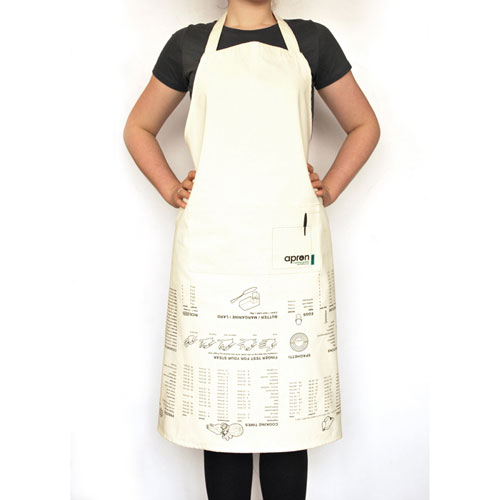 Apron Printed with Cooking Guides  Suck UK Kitchen Guide Apron