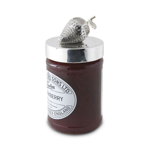 Silver Strawberry Jam Jar Lid & Strawberry Jam Duo
