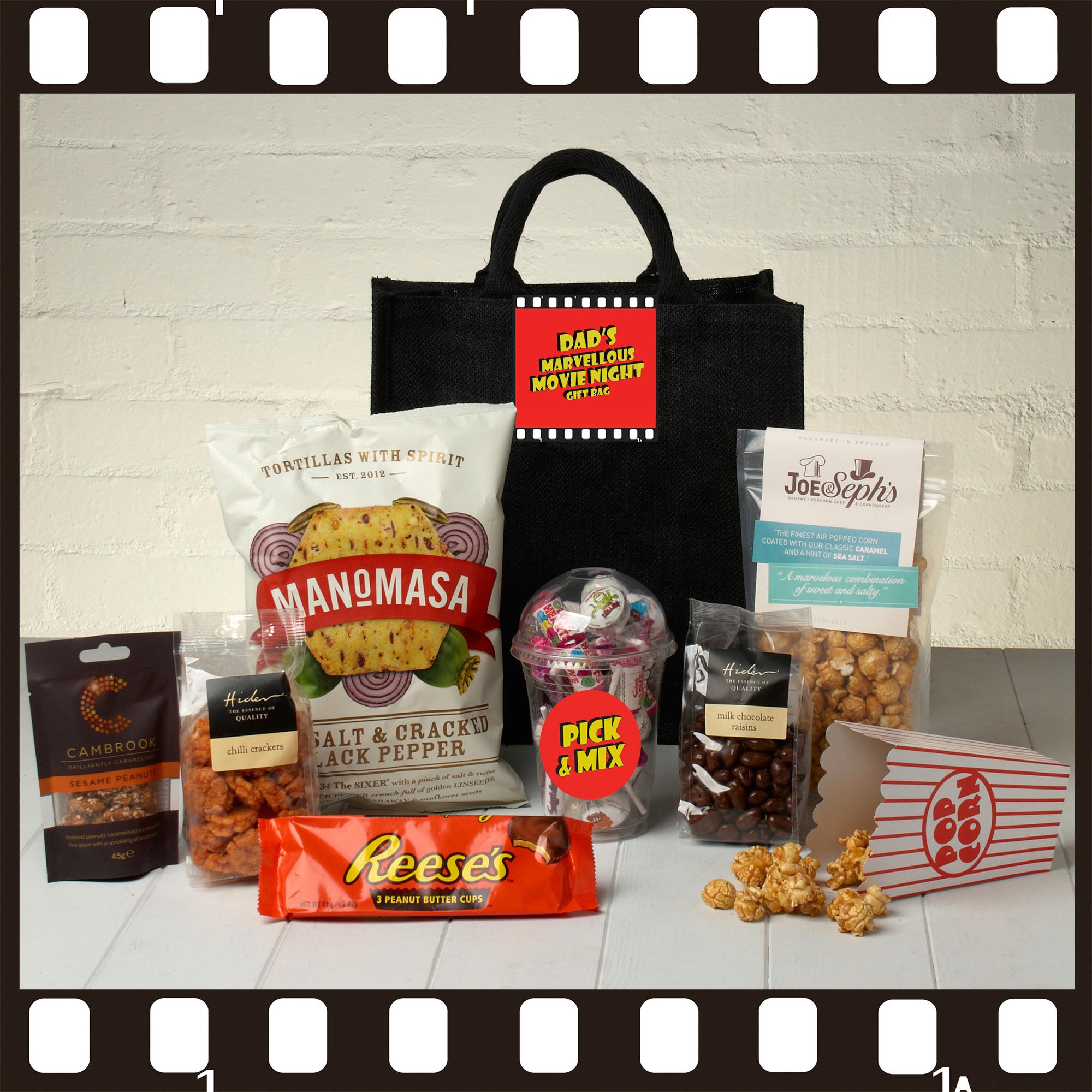 Hampers Dad's Marvellous Movie Night Tote Bag