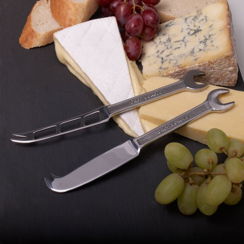 Tinker with the cheese board with our Spanner Cheese Knives Gift Set