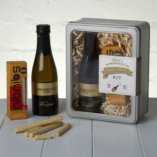Mums Emergency Prosecco and Nibbles Kit Whisk Hampers-33