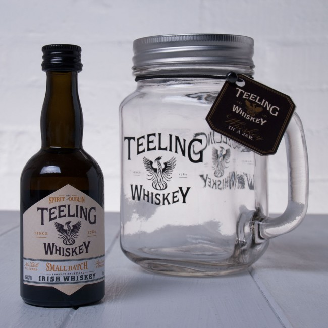 Teeling Whiskey Co. Small Batch Whiskey in Mason Jar Whisk Hampers-32