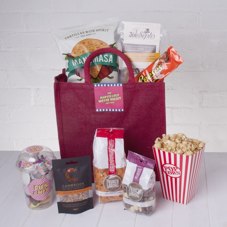 The Marvellous Movie Night Gift Bag By Whisk Hampers