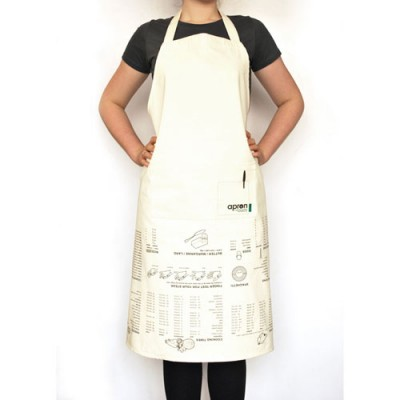 Apron Printed with Cooking Guides - Suck UK Kitchen Guide Apron